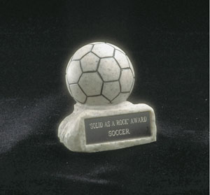 Soccerball Trophy Granite Look
