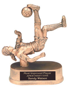 Soccer Player Trophy Bicycle Kick