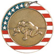 Wrestling Stars and Stripes Medal